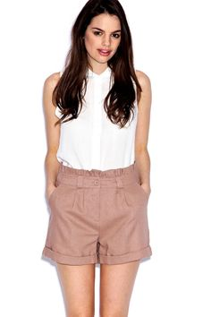 Selina Turn-Up Shorts | boohoo.com $30