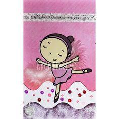 """Tolle Karte mit der Plotterdatei """"Ballerinas* von Céline Adekunle Design."""
