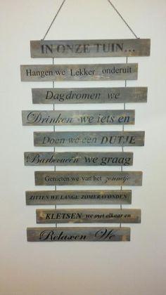 Foto: buitenregels op pallethout. Geplaatst door Wen73 op Welke.nl