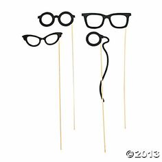 "Costume Eyewear On A Stick  IN-14/2047  Add a little mystery to your event with costume eyewear your party guests will love. Hand out these unique favors at a masquerade ball, Mardi Gras bash or Halloween costume party. Everyone will have fun wearing these disguise eyeglasses and guessing who's behind each mask. Includes 6 1/2"" paper glasses on an 18"" wooden stick.  $7.25 Per Dozen"