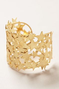 Starlit Brass Cuff