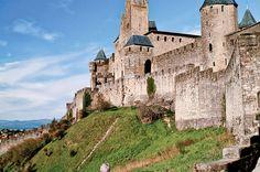 Carcassonne e sua construções, na França