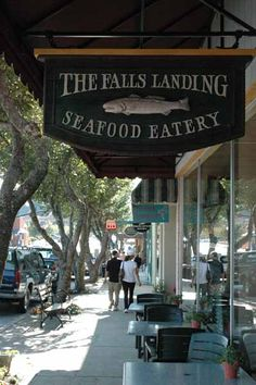 Falls Landing, Brevard NC Where we ate with sissy and stevie.  Had my first north Carolina trout !!!! Was wonderful !!!!