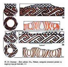 3.1.1.3. Cucuteni şi simbolismul de regenerare - Seimeni - de la piatra şlefuită la fier Anthropology, Pottery Art, Archaeology, Fiber Art, Symbols, Traditional, Tattoo, Embroidery, Pattern