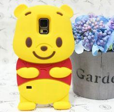 Cute 3D Cartoon Winnie Bear Silicon Rubber Case Cover For Samsung Galaxy S5 S6 Phone Cases