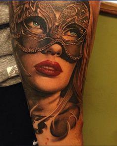 Sexy Masked Lady Tattoo