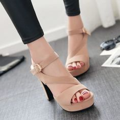 Be elegant with this suede high heel sandals to your date, party, prom or daily. Wear this sandals to be fashion and cute with summer outfits. Gender: Women's Category: Sandals Occasion: Casual,Club,S