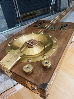 by Adam Cripps Diy Instrument, Making Musical Instruments, Homemade Instruments, Music Instruments, Cigar Box Nation, Empty Cigar Boxes, Cigar Box Guitar Plans, Guitar Crafts, Resonator Guitar