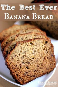 The Best EVER Banana Bread Recipe - moist, delicious, and SO easy to make!