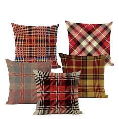 Geometryczna poduszka pokrywa kolorowy bawełna lniana rzucanie poduszka styl w kratę artystyczna dekoracja sofa do salonu krzesło poduszka z wcięciem,Kupuj od sprzedawców w Chinach i na całym świecie. Ciesz się bezpłatną wysyłką, wyprzedażami, łatwymi zwrotami i ochroną kupujących! Ciesz się ✓ bezpłatną wysyłką na cały świat! ✓ Limit czasu sprzedaży ✓ Łatwy zwrot Living Room Sofa, Living Room Decor, Geometric Cushions, Plaid Fashion, Sofa Chair, Home Textile, Throw Pillows, Bed, Cover