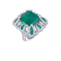 Miiori Emerald and Diamond Ring