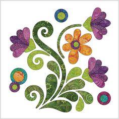 """Applique Elementz - """"Radiant"""" Club - Applique Elementz Flower Applique Patterns, Applique Templates, Wool Applique, Quilt Block Patterns, Applique Quilts, Hand Applique, Applique Designs, Embroidery Applique, Quilting Designs"""