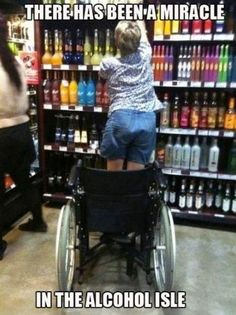 There has been a miracle in the alcohol aisle!