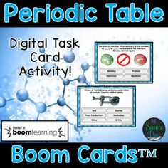 Periodic Table Task Cards - Distance Learning Compatible Digital Boom Cards™ Chemistry Lessons, Science Lessons, Science Activities, Bohr Model, Atomic Number, Diy Deck, Middle School Science, Teaching Strategies, Creative Teaching
