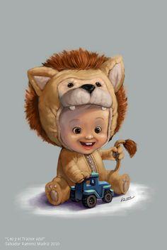 Cartoon Kid Character #kid #illustration #character