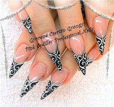 Black and white nail