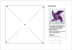 Journaling Cards Free Template Download | Free Printable Paper Pinwheel or Windmill Template