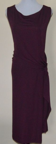 Talbots - Matte Jersey Side Draped Dress - Cassis