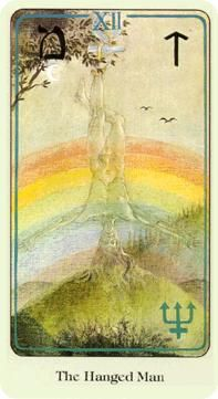 June 21 Tarot Card: The Hanged Man (Haindl deck) When you loosen your grip on the safety of doing things the same way you've always done, you create space in your heart and mind for entirely new people, feelings and experiences