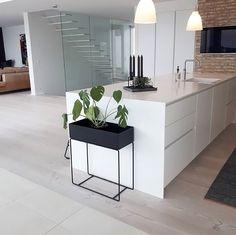 Love this gorgeous kitchen! Ferm Living Plant Box available online.