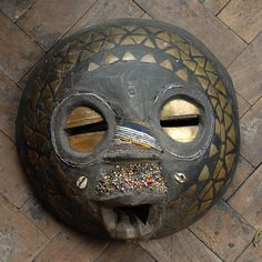 An African tribal mask,