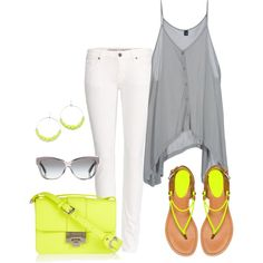 """Summer 2013 Neon"" by lisantay on Polyvore"