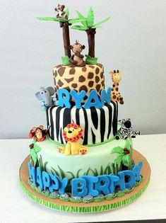 baby shower de safari torta
