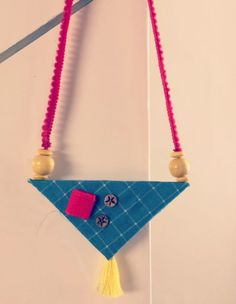Ideas Jewerly Necklace Geometric Accessories For 2019 Fabric Earrings, Fabric Beads, Diy Earrings, Textile Jewelry, Fabric Jewelry, Terracotta Jewellery, Handmade Jewelry Designs, Jewelry Patterns, Jewelery