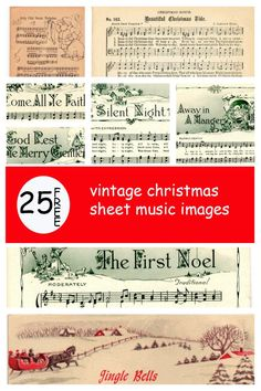 Make your holiday decorating and gift giving easy with these free printable vintage Christmas sheet music pages! Just print and frame for easy decor and gifts.