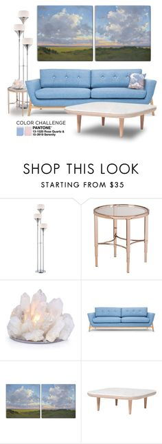 """""""Color Challenge: Pink and Blue"""" by boxthoughts ❤ liked on Polyvore featuring interior, interiors, interior design, home, home decor, interior decorating, Lite Source, &Tradition, pinkandblue and colorchallenge"""