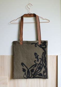MERINO WOOL FELTED HANDLE BAG from Grotkop Collection handmade