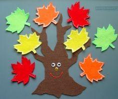 Fall Leaves / Apple Tree Children's Flannel Board Felt Set. $12.00, via Etsy. (sans tree face for me, please)