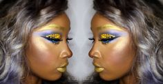 Seeing #Gold001 #MakeUp #Love #HiLite to blind