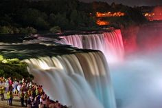 Niagra Falls-yep, I've been to both sides during the day and night.  Speechless!