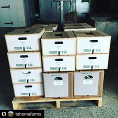 We're expecting our @tahomafarms order in later today - nettles and more! So excited! #Repost #localfood #wafood Nice order heading out to @puget_sound_food_hub customers!
