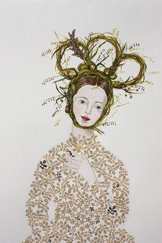 Grass Crown (detail), By Anne Siems.