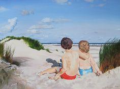 Laura Gibney-The Beach. Oil on canvas.