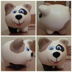 Perro puerquito alcancia Color Me Mine, Pottery Painting, Piggy Bank, Pitbulls, Ceramics, Pigs, Crafts, Teacup Pigs, Easy Crafts