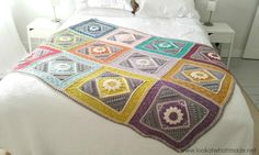 This crochet blanket uses a unique approach to colors and shapes to create stunning effects. This Granny Cable Hexagon Blanket Free Crochet Pattern shows you how to crochet a wonderful eye-catching blanket. Grannies Crochet, Crochet Quilt, Crochet Squares, Crochet Home, Crochet Blanket Patterns, Crochet Motif, Free Crochet, Crochet Blankets, Motifs Afghans