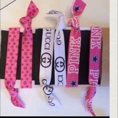 LUXARY HAIR TIES PONY HOLDER W/GIFT BAG GR8 FAVOR! Price includes your choice of four ties, in party bag.  If you want to mix and match Or by multiple bags, I will be more than happy to work with you! Louis Vuitton Accessories