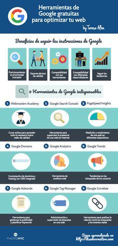 Las herramientas de Google son muy útiles para optimizar tu web, mejorar el posicionamiento y estar al día de los cambios en el algoritmo. ¡Descúbrelas!