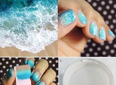 If you are looking for a nail design inspired by the gorgeous summer and the sea you are in the perfect place. Put the waves of the beach on your