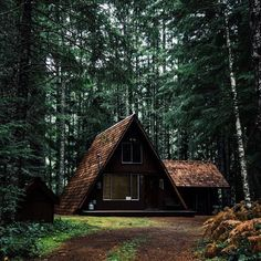 You are just a dream away a frames house, tiny house cabin и forest house. Tiny House Cabin, Cabin Homes, Log Homes, A Frame Cabin, A Frame House, Cabins In The Woods, House In The Woods, Haus Am See, Lets Run Away