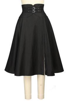 Wide Cinch Belt Skirt Chic Star design by Amber Middaugh and Brandie Bryan Vintage Inspired Fashion, Unique Fashion, Love Fashion, Autumn Fashion, Vintage Fashion, Fashion Design, Fashion Ideas, Steampunk Skirt, Steampunk Fashion