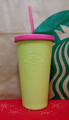 SS Summer Yellow STARBUCKS Korea 2017 Summer Cold Cup 473ml Limited Edition
