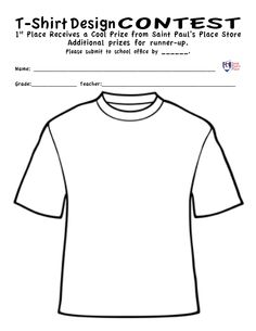 White T Shirt clip art-- for Put On/Put Off Activity