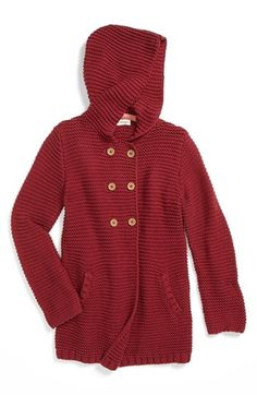 Tucker + Tate 'Lou' Hooded Sweater (Little Girls & Big Girls) available at #Nordstrom