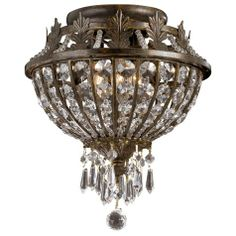 Paris Flea Market Iron and Crystal 11 by Crystorama http://www.lightingluxurystyle.com/08292.htm $270