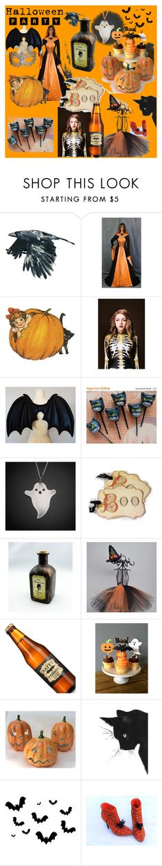 """Halloween Party with Etsy"" by cravecute ❤ liked on Polyvore featuring interior, interiors, interior design, home, home decor, interior decorating, Masquerade, vintage, Halloween and handmade"
