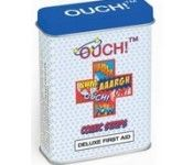 The super cool OUCH! Comic Strip plasters come in a funky re-usable tin which contains 15 assorted plasters.